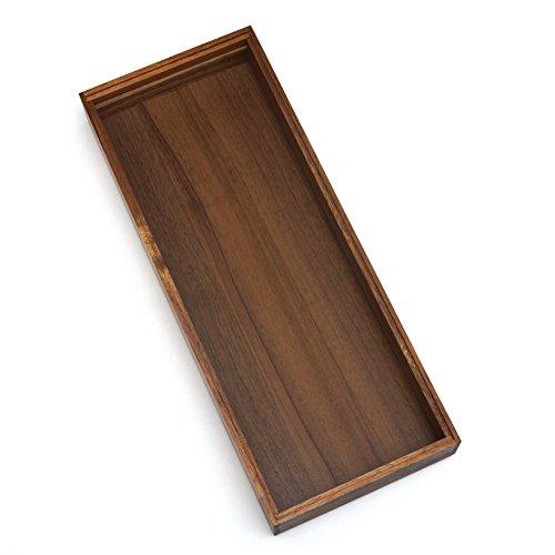 Lipper International 1086WN Walnut Finish Stacking Drawer Organizer Box, 6