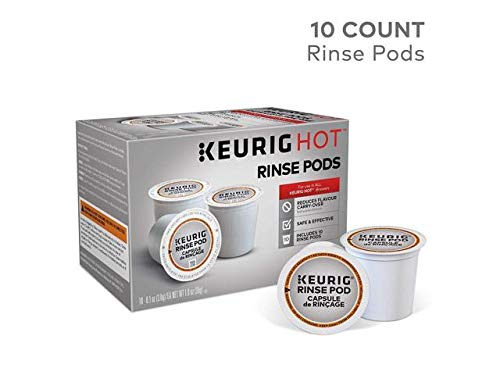Keurig 5000057588 Rinse Brews in Both Classic 1.0 and Plus 2.0 Series K-Cup Pod Coffee Makers, 10 Count, White (Best Way To Clean Your Coffee Maker)