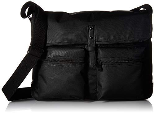 Fossil Men's Buckner Messenger Black Travel Cross-Body Bag, One Size (Fossil Bags Backpack)