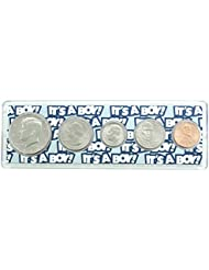 """2018-5 Coin Birth Year Set in""""It's a Boy"""" Holder Uncirculated"""