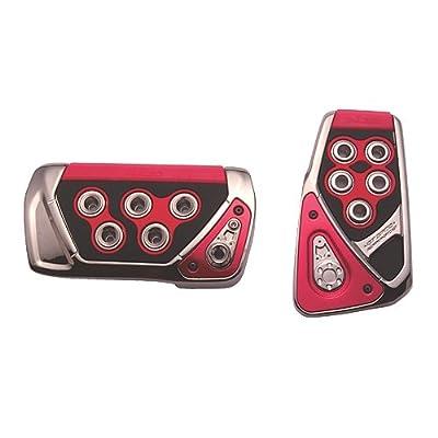 CARMATE JAPAN RAZO RP101RE CAR JDM Red GT Automatic Spec Pedal Cover Set AT-S 2P / Accelerator + Brake set