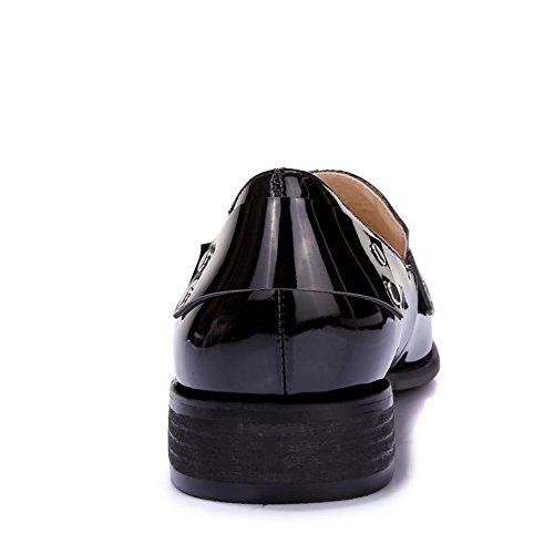 Balamasa Da Donna Baskets À Talons Compensés Solido En Vernice-chaussures, Nero (noir), 35