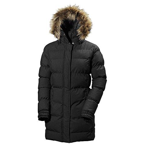 Helly Hansen Women's W Blume Puffy Parka Jacket, Black, XX-Large