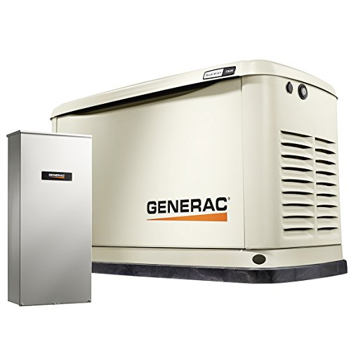 Generac 7033 Guardian Series 11kW/10kW Air Cooled Home Standby Generator with Whole House 200 Amp Transfer Switch (not CUL)
