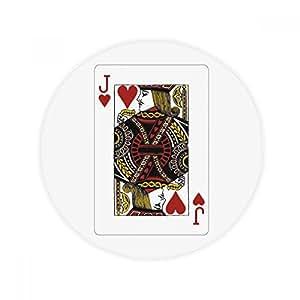Corazón J Juego de cartas patrón antideslizante alfombra Pet redonda baño salón cocina puerta 60/50cm regalo