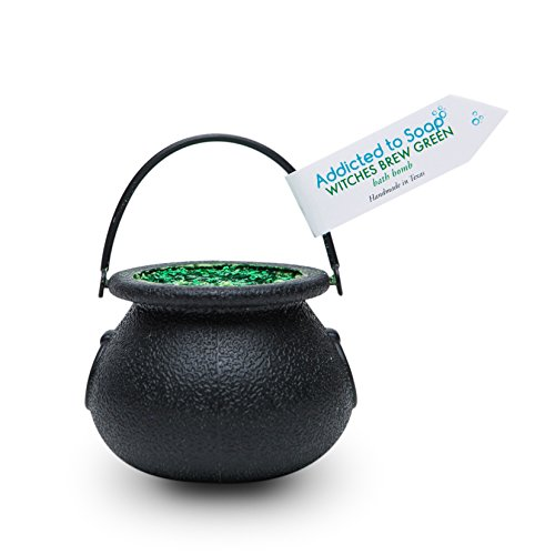 Witchs Brew Cauldron Bath Bomb GREEN Fizzy Large 6 oz. Bath Bombs with Surprise Spider Toy Inside! Fun Bath Bomb for Kids!