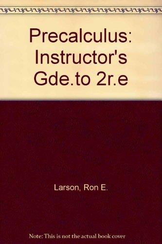 Precalculus: Instructor's Gde.to 2r.e