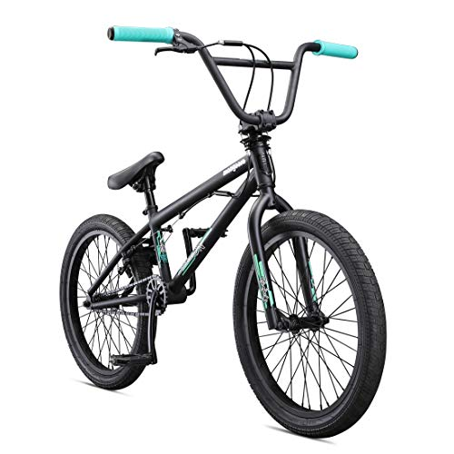 Mongoose Legion L100 Freestyle BMX Bike for Advanced Riders, Featuring 4130 Chromoly Frame and Double Walled Rims with 20-Inch Wheels, Burgundy