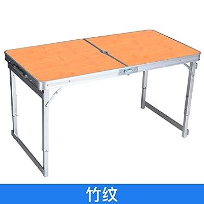 Xing Lin Table Pliable Une Table Pliante Table Pliante Et Président De La Table En Aluminium Portable Blocage Table Pour Renforcer La Table De Pique-Nique Table Promotion 120*60*60Cm, De Mise À Niveau La Stabili