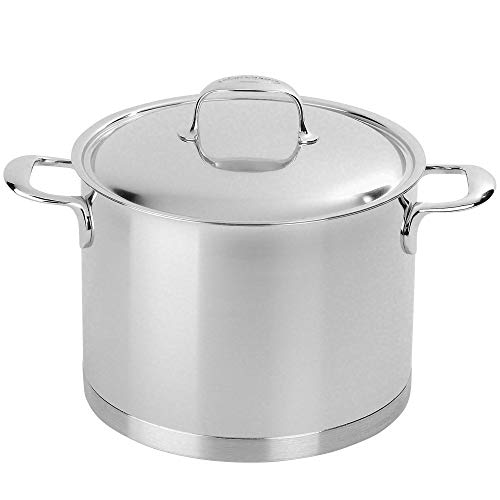Demeyere 41394 Atlantis 7-Ply Stainless Steel Stock Pot, 8.5 quarts, Silver ()