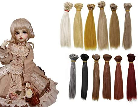 12 Colors Bright Creations Doll Making Hair Wefts 24 Pack