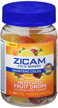 Zicam Cold Remedy Medicated Fruit Drops - 25 ct, Pack of 4 by Zicam