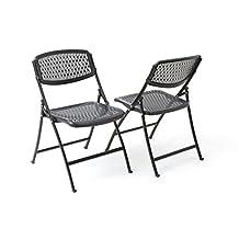 Flex One Folding Chair, Black, 4-Pack
