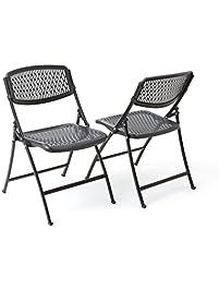 Mity Lite Flex One Folding Chair Black 4 Pack