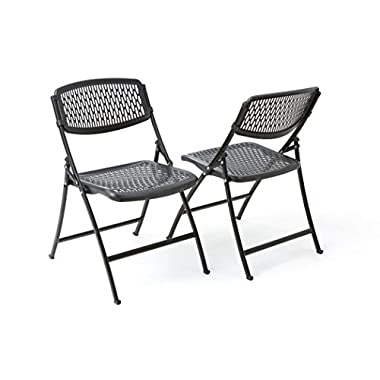 Flex One Folding Chair, Black, 4-Pack