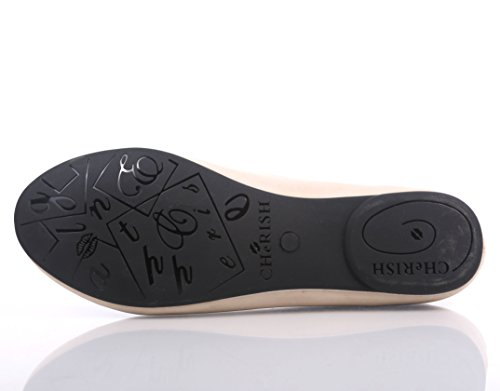 Only Flats Cherish New Womens Slip Casual Box Fashion Nude Toe Without On Round Ballet Shoes zqwFtqC