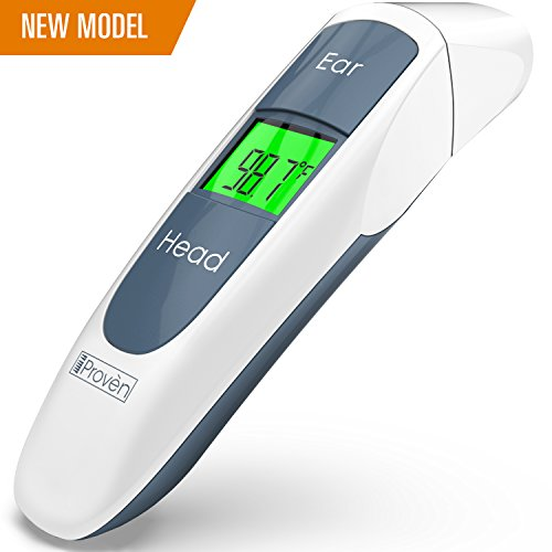 (Best Medical Digital Ear Thermometer (Termometro) with Temporal Forehead Function - for Baby, Infant and Kids - Upgraded Tympanic Fever Scan Lens Technology for Unmatched Accuracy - New 2018 DMT-316b)