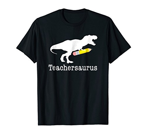 Teachersaurus Shirt, Funny Cute Dinosaur Teacher School Gift