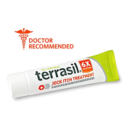 Jock Itch Treatment MAX - 6X Faster Than Leading Brands Dr. Recommended 100% Guaranteed All Natural Antifungal Ointment Treats Tinea Cruris Relieves Itch Irritation by Terrasil® 14 grams ()