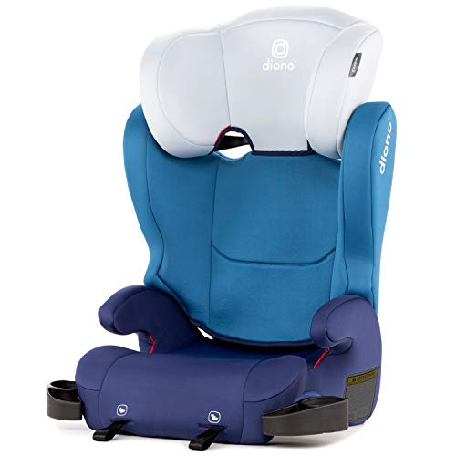 Diono Cambria 2 Latch, 2-in-1 Belt Positioning Booster Seat, High-Back To Backless Booster XL Space And Room To Grow, 8 Years 1 Booster Seat, Ultimate Safety And Protection, Blue