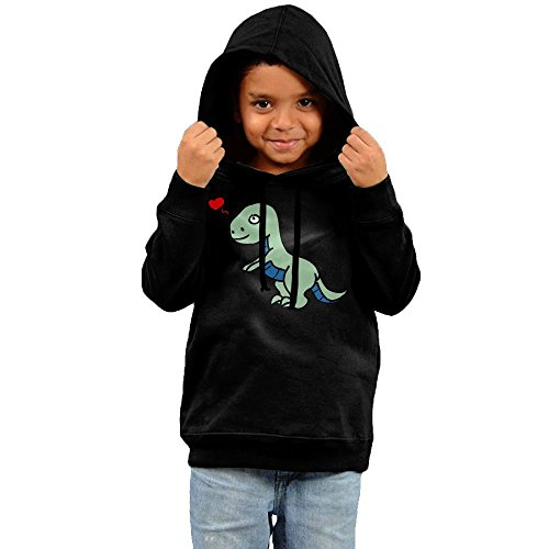 Unyiqun Tyrannosaur In Love Toddler Hoodies - Soft And Cozy Hooded Sweatshirts 4 (Sock Hop Outfit Ideas)