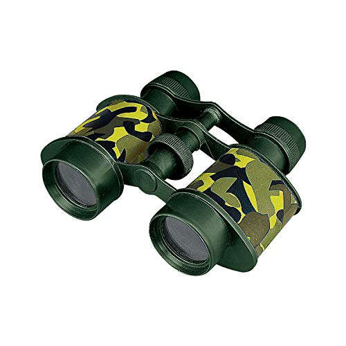 Fun Express - Camouflage Binoculars - Toys - Active Play - Camping Toys - 12 Pieces
