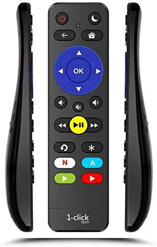 1-clicktech Remote [2-in-1 with TV Power+Volume] for ROKU Express (3700, 3710, 3900, 3910, 3920, 3930), Compatible w/Premiere, Ultra, 4/3/2/1 [Not for ROKU Stick]