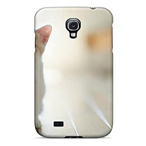 KPL92RPJy Tpu Phone Case With Fashionable Look For Galaxy S4 - White Baby Cat