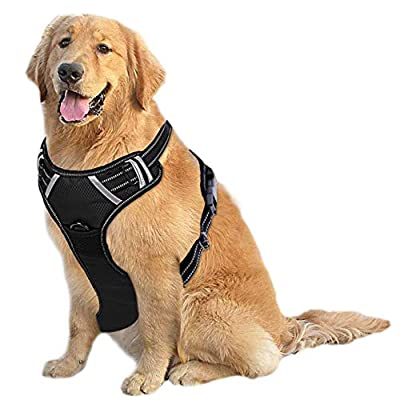 YOUTHINK Dog Harness No-Pull Adjustable Pet Vest Harness, Dogs Easy Control Reflective Oxford Material Dog Vest for Walking, Trainning,Running
