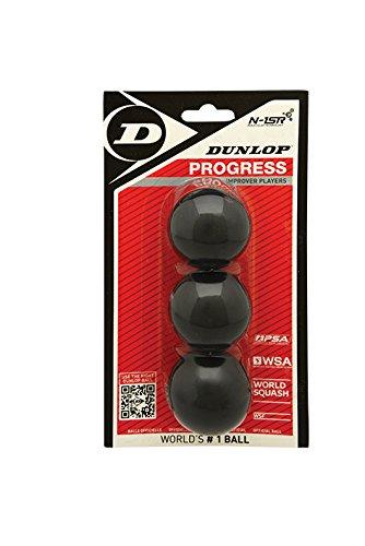 Dunlop Lot de 3 balles de squash