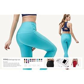 - 41ImKPHPF7L - Yoga Leggings High-Waist Tummy Control w Hidden Pocket