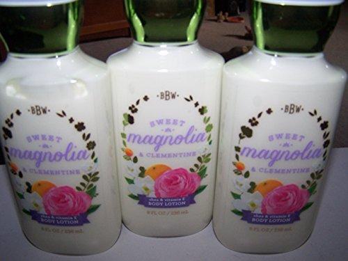 Lot of 3 Bath & Body Works Sweet Magnolia & Clementine Shea & Vitamin E Body Lotion 8 Fl Oz Each (Sweet Magnolia & Clementine) - Body Magnolia Lotion Moisturizing