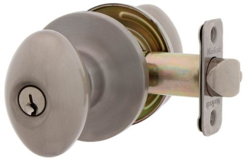 MaxGrade 300BAK15 Baker Egg Style Keyed Entry Door Knob, Satin Nickel - Nickel Images Egg Egg