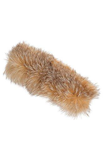 Finn Fox Fur Convertible Headband and Neck Warmer, CRYSTA...