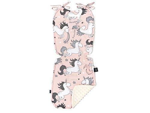 (La Millou - Reversible Stroller Pad - Car Seat Liner,Soft, Thick Hypoallergenic Filling (Unicorn Sugar Bebe - Ecru))
