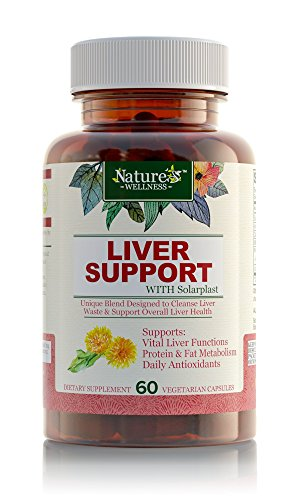 Liver Cleanse & Detox Supplement - Natural Health Formula: Milk Thistle, Dandelion, Artichoke Extracts, Protease & Lipase Enzyme Complex w/ Solarplast to Support Fat & Protein Digestion, 60 Veg Pills