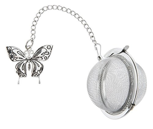 Butterfly Charm Tea Infuser Ball - By Ganz ER43852