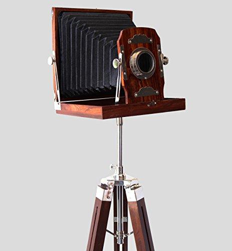 "Vintage Royal Wooden Film Slide Old Retro Camera Home Decorative Gift 12""x12""x13"" Brown"
