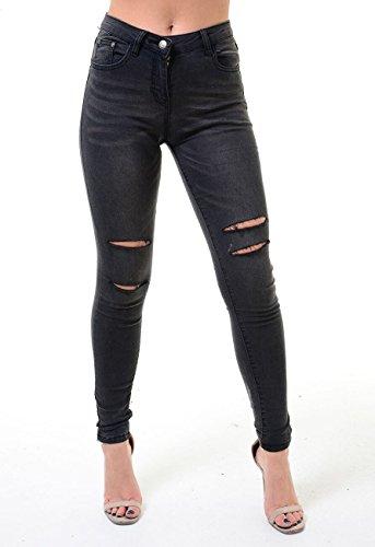 Femme fonc Jeans 8055 605 gris x4aFqE41Ww