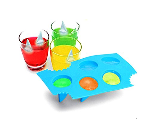 Novelty Silicone Diy Mould Shark Fin Chocolate Jello Mould Mold Ice Cube Tray Tool freeze Maker From Vigorlife