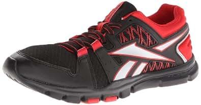 Reebok Men's Yourflex Train Rs 4.0 Training Shoe,Black/Stadium Red/Pure Silver,8.5 M US