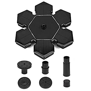 instecho Solar Fountain Pump, Free Standing 1.4W Bird Bath Fountain Pump for Garden and Patio, Solar Panel Kit Water Pump (2) by AUKA