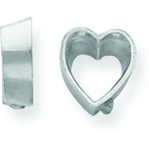 14K White Gold Heart Bezel Setting - Mm Heart 6 Bezel