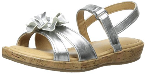 Price comparison product image BOC Kids Kinley Fashion Wedge Sandal (Toddler/Little Kid/Big Kid), Silver, 12 M US Little Kid