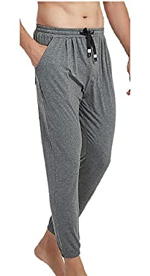 Jmwss QD Men's Drawstring Waist Sleepwear Modal Lounge Pants