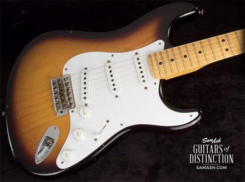 - Fender Custom Shop Journeyman Relic Eric Clapton Signature Stratocaster Electric Guitar 2-Color Sunburst (SN:CZ530946)