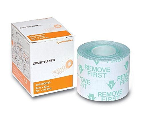 Transparent Adhesive Film Opsite (Smith & Nephew 5466000040 Opsite Flexifix 2 Inch x 10.9 Yards Transparent Film Dressing)