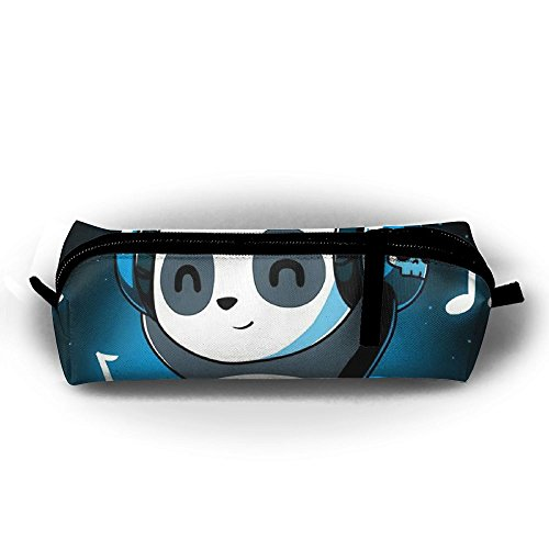 Panda Playlist Zipper Pen Bag,Stationery Pouch,Multi-colored Pencil Bag Case Cosmetic - Panda White Playlist