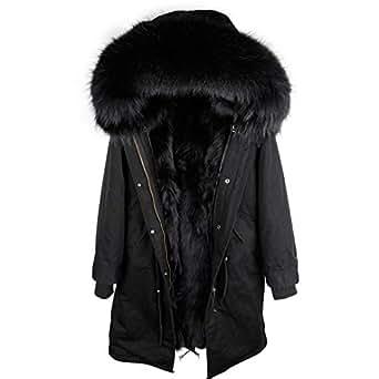 Amazon.com: Real Fur Parka Men Winter Jacket Real Raccoon