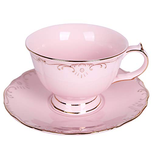 Vintage Tea Cups Bulk (Tea Cups Coffee Cups, Teacup Saucer, Formal Pink Vintage Tea Cup, Floral Tea Cups, Tea Cup and Saucer, Porcelain Tea Cups, Tea Cups for Tea Party, Best Friend Gifts for)